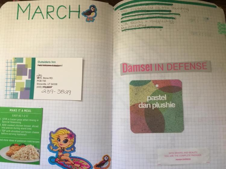march bujo 1